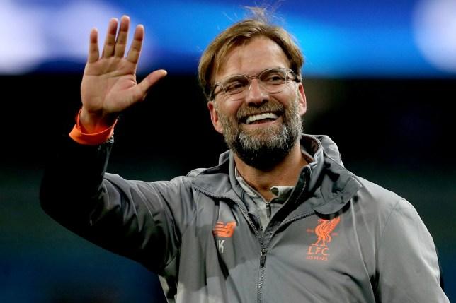epa06660347 Liverpool's head coach Juergen Klopp reacts after winning the UEFA Champions League quarter final second leg match between Manchester City and FC Liverpool in Manchester, Britain, 10 April 2018. EPA/Nigel Roddis