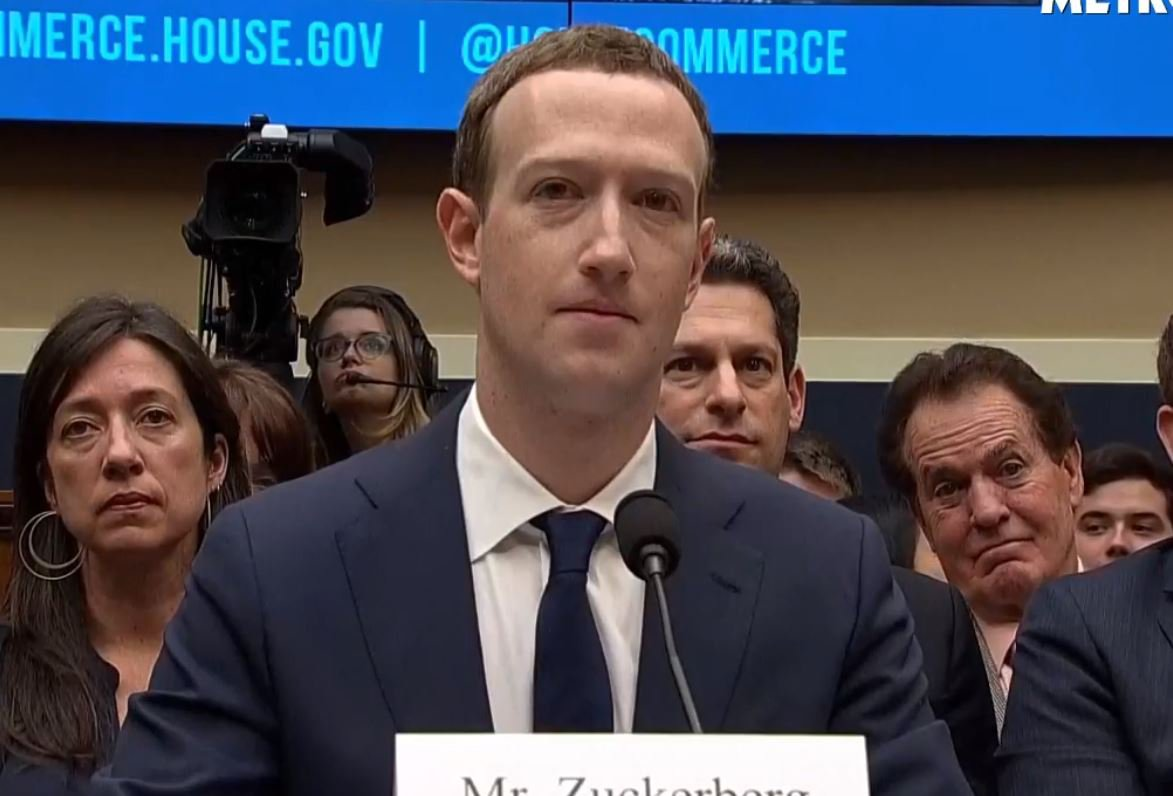 Mark Zuckerberg's second grilling from US lawmakers Picture: METRO (Facebook Live) METROGRAB