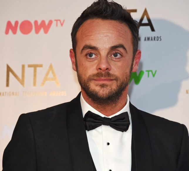 LONDON, ENGLAND - JANUARY 23: Anthony McPartlin of Ant & Dec, winner of the TV Presenter award and The Bruce Forsyth Entertainment Award, pose in the press room at the National Television Awards 2018 at The O2 Arena on January 23, 2018 in London, England. (Photo by David M. Benett/Dave Benett/Getty Images)