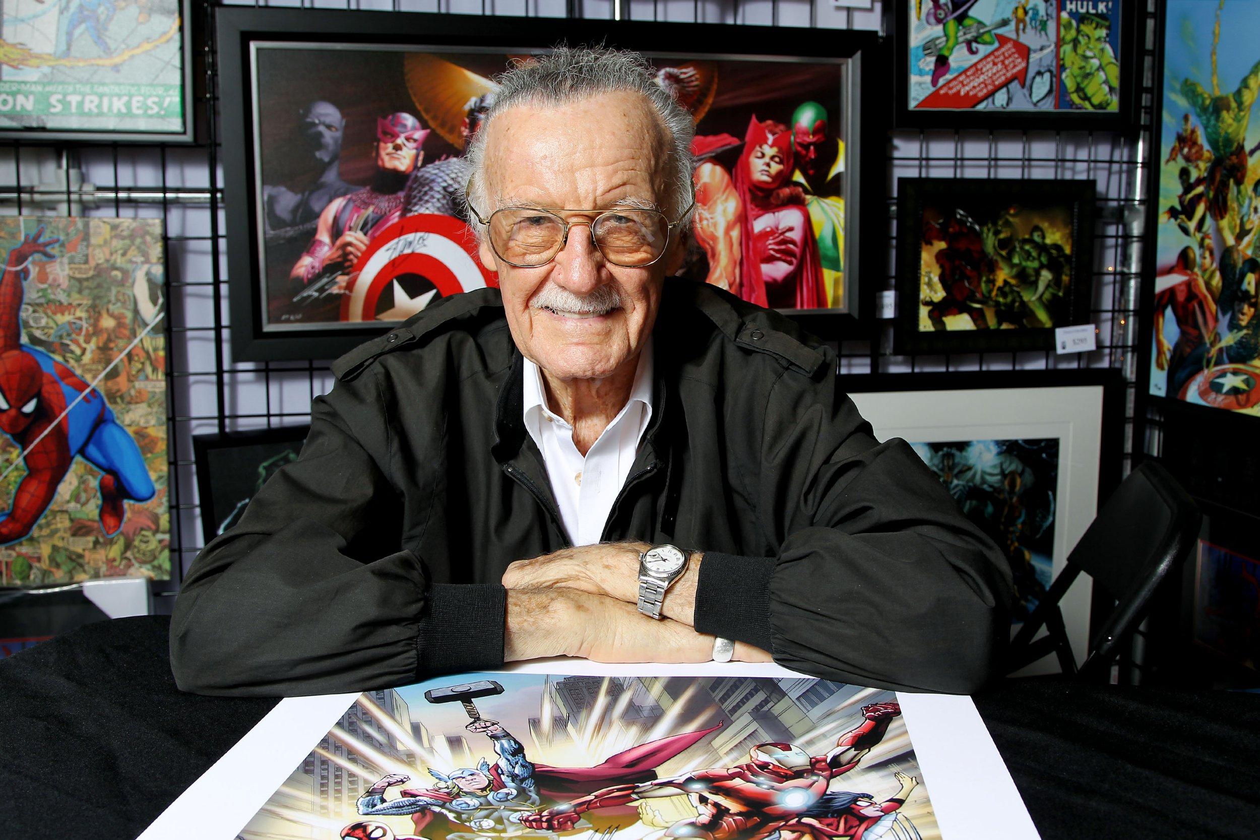 Mandatory Credit: Photo by Marion Curtis/StarPix/REX/Shutterstock (5628342c) Stan Lee Marvel Fine Art Program launch at New York Comic Con, America - 12 Oct 2012