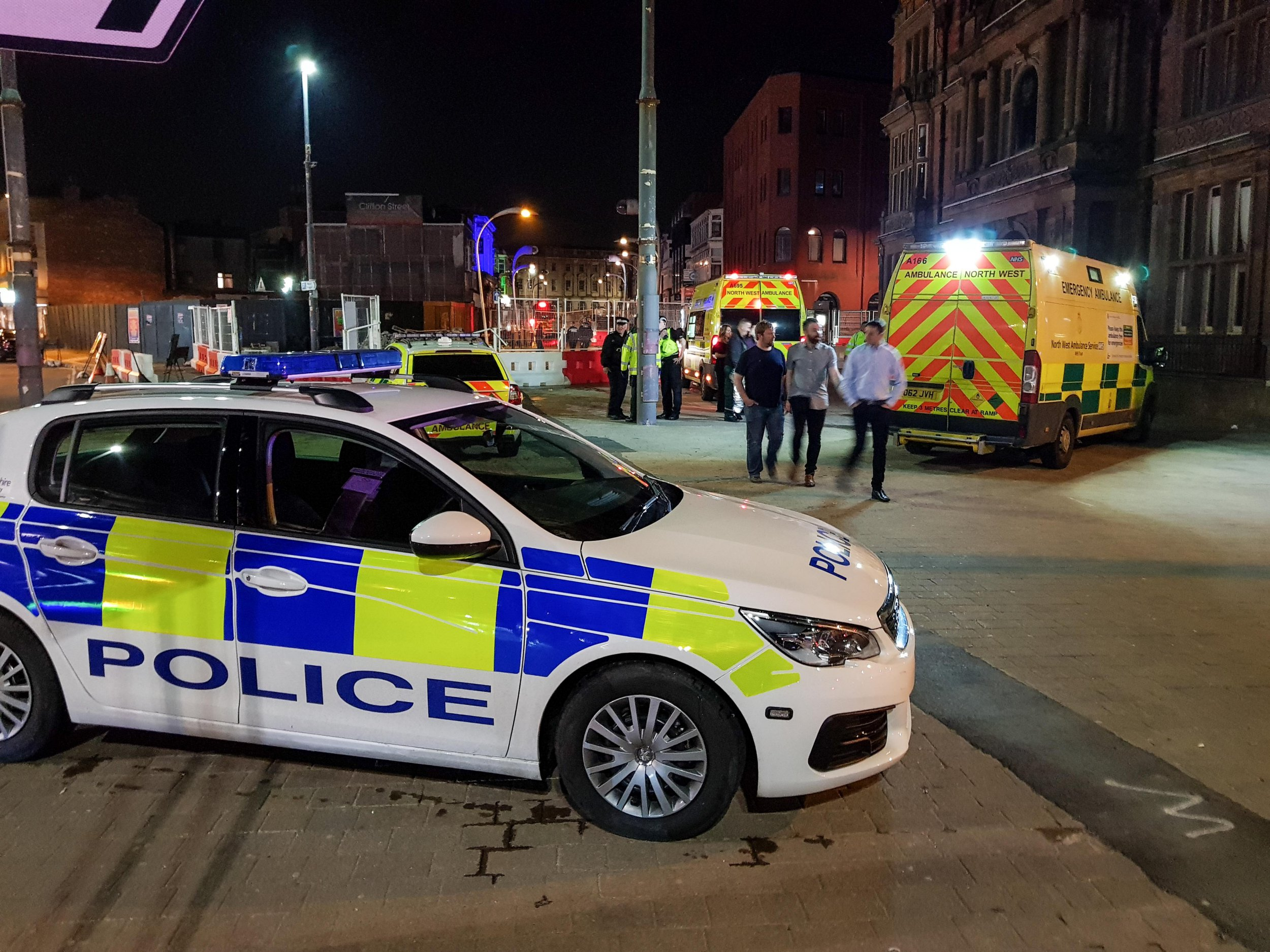 Driver, 19, arrested after car ploughs into crowd outside Blackpool nightclub