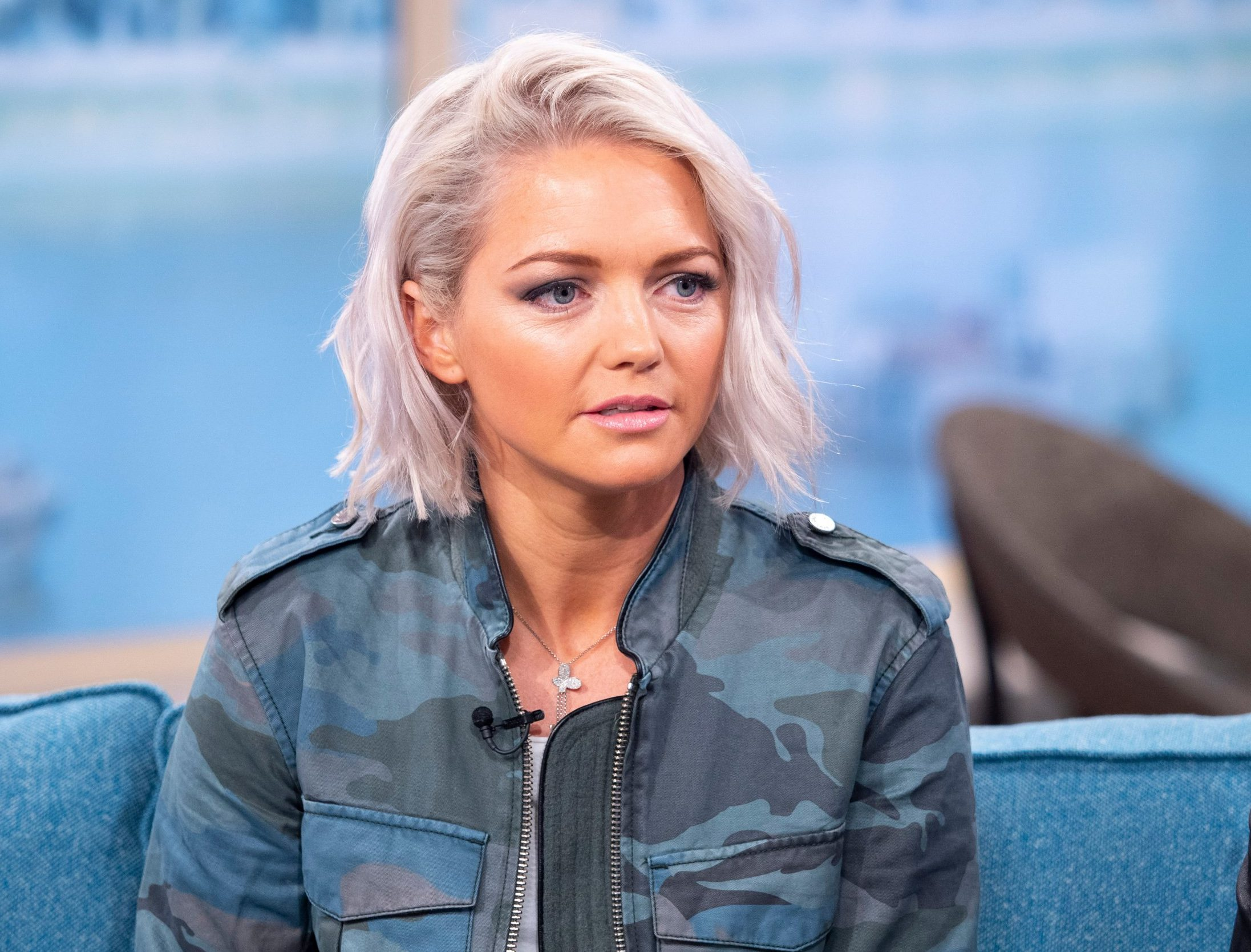EDITORIAL USE ONLY. NO MERCHANDISING Mandatory Credit: Photo by Ken McKay/ITV/REX/Shutterstock (9633712j) Hannah Spearritt 'This Morning' TV show, London, UK - 16 Apr 2018