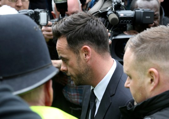 Ant McPartlin arrives at Wimbledon Magistrates court over a drink drive charge, April 16 2018