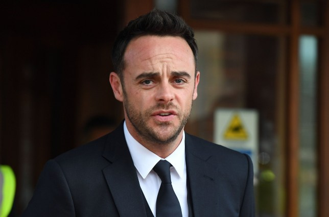 LONDON, ENGLAND - APRIL 16: Ant McPartlin makes a statement as he leaves Wimbledon Magistrates Court on April 16, 2018 in London, England. Anthony McPartlin, one half of the television presenting duo Ant and Dec is fined ??86,000 and banned from driving for 20 months after pleaded guilty to drink-driving. (Photo by Chris J Ratcliffe/Getty Images,)