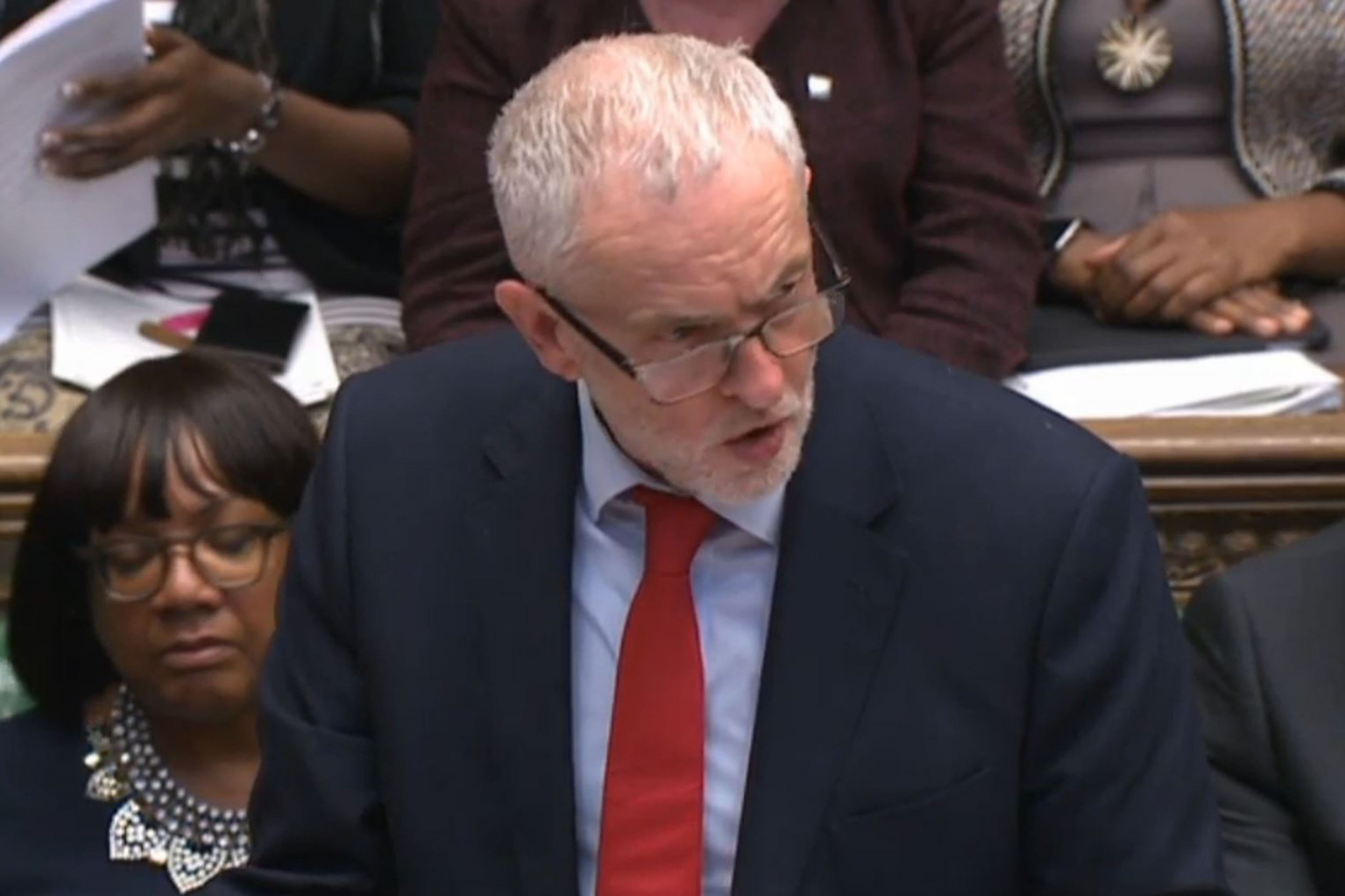 Labour leader Jeremy Corbyn speaking after Prime Minister Theresa May made a statement to MPs in the House of Commons over her decision to launch air strikes against Syria. PRESS ASSOCIATION Photo. Picture date: Wednesday July 20, 2016. See PA story POLITICS Syria. Photo credit should read: PA Wire