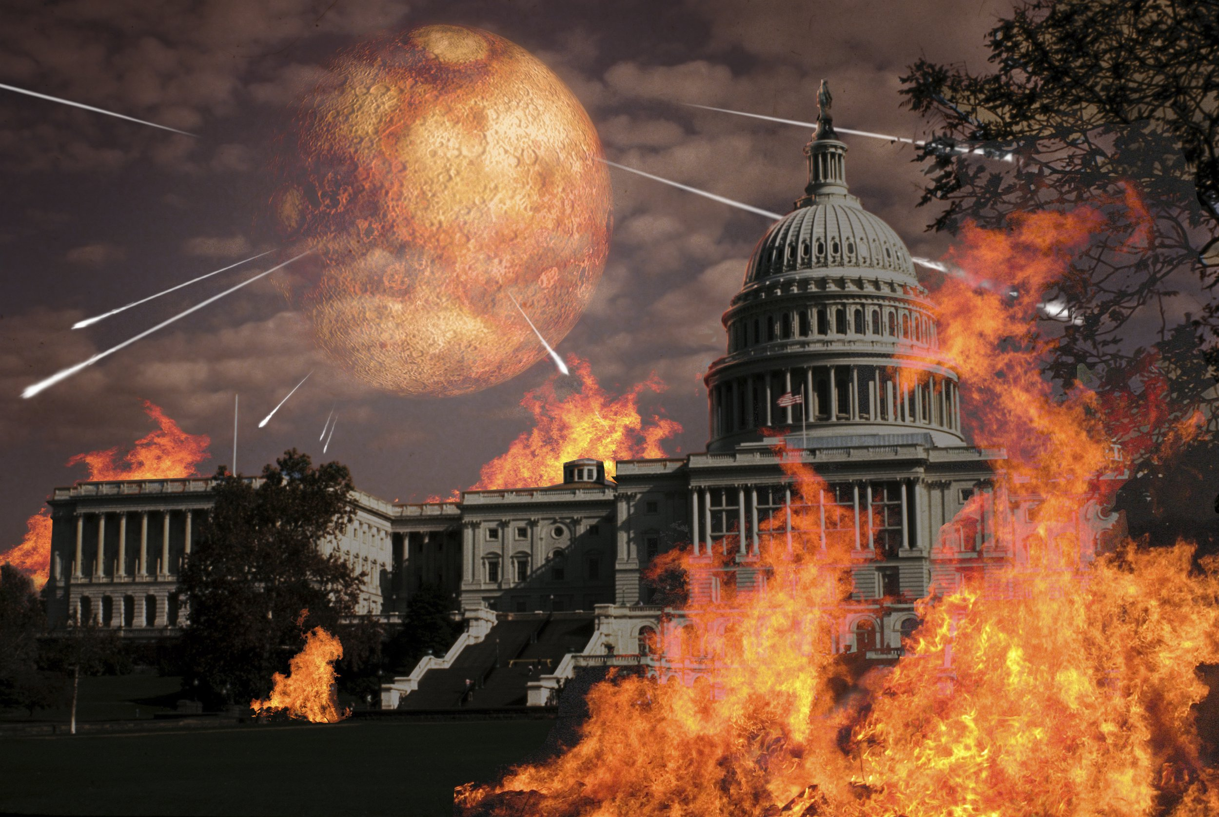Close approach of Nibiru, Planet X, over the U.S. Capitol building.