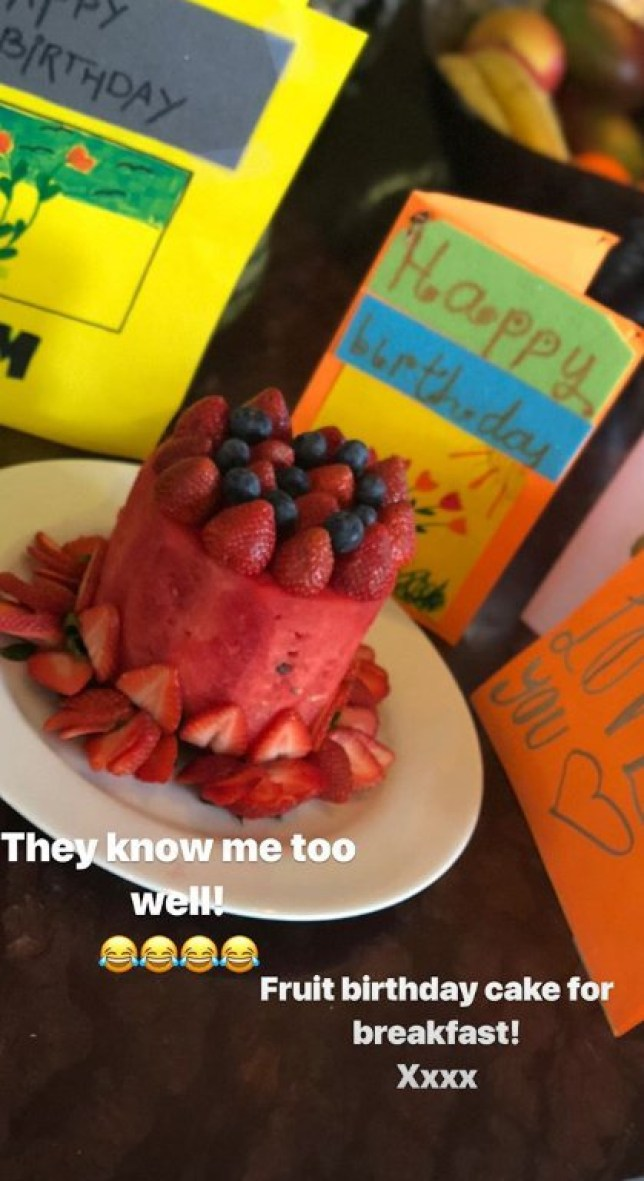 Victoria Beckhams Birthday Cake Made Out Of Fruit Because Course It Is METRO GRAB Taken From Instagram Victoriabeckham Credit