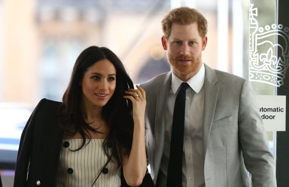 Prince Harry and Meghan Markle attend a reception with delegates from the Commonwealth Youth Forum at the Queen Elizabeth II Conference Centre, London, during the Commonwealth Heads of Government Meeting. PRESS ASSOCIATION Photo. Picture date: Wednesday April 18, 2018. See PA story ROYAL Commonwealth Harry. Photo credit should read: Yui Mok/PA Wire
