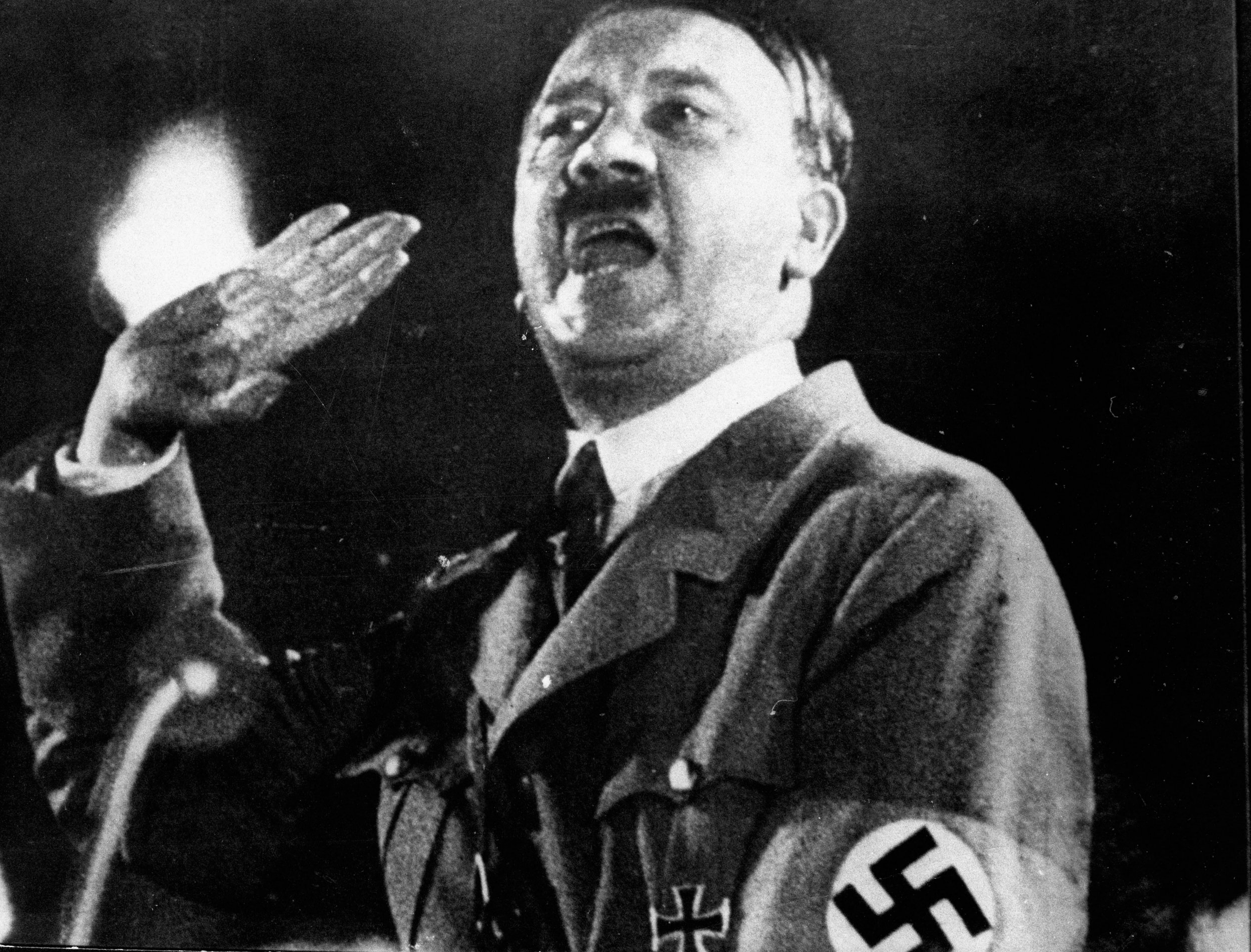 Adolf Hitler dictating shortly before committing suicide.