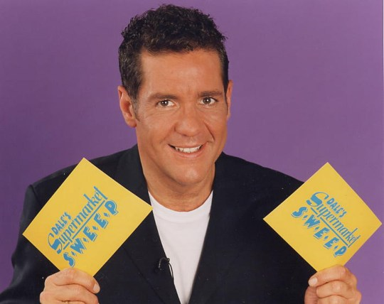 Editorial Use Only / No Merchandising Mandatory Credit: Photo by FremantleMedia Ltd/REX/Shutterstock (854604ky) 'Dales Supermarket Sweep' - Dale Winton Thames TV Archive