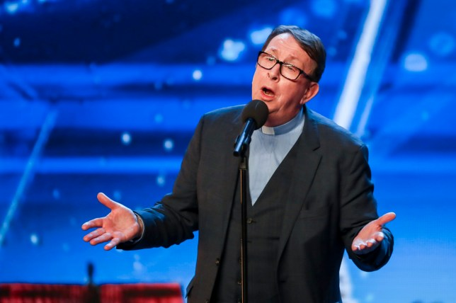 MANDATORY CREDIT REQUIRED: TOM DYMOND/SYCO/THAMES ITV Undated handout photo of Father Ray Kelly during the audition stage for ITV1's talent show, Britain's Got Talent. PRESS ASSOCIATION Photo. Issue date: Saturday April 21, 2018. See PA story SHOWBIZ BGT. Photo credit should read: Tom Dymond/Syco/Thames/PA Wire NOTE TO EDITORS: This handout photo may only be used in for editorial reporting purposes for the contemporaneous illustration of events, things or the people in the image or facts mentioned in the caption. Reuse of the picture may require further permission from the copyright holder.