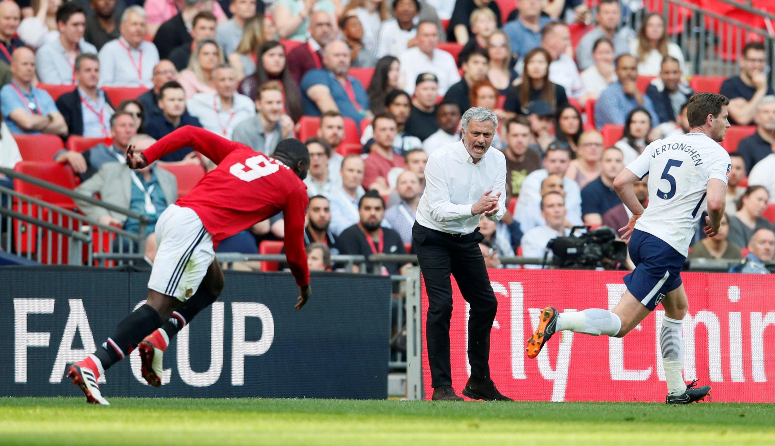 Soccer Football - FA Cup Semi-Final - Manchester United v Tottenham Hotspur - Wembley Stadium, London, Britain - April 21, 2018 Manchester United manager Jose Mourinho REUTERS/David Klein