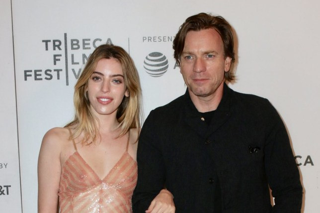 Mandatory Credit: Photo by Nancy Rivera/ACE Pictures/REX/Shutterstock (9639417c) Ewan McGregor, Clara McGregor 'Zoe' premiere, Tribeca Film Festival, New York, USA - 21 Apr 2018