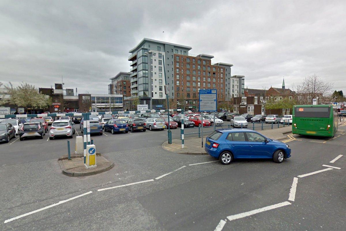 Longfield Centre car park in Prestwich (Picture: Google)