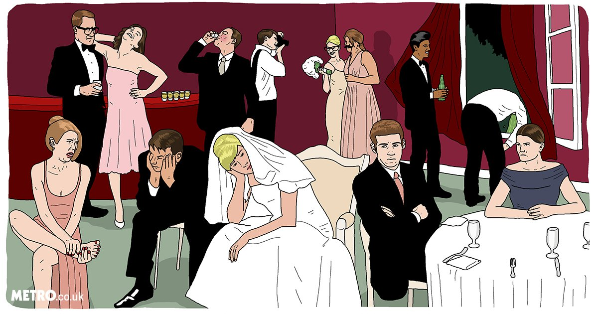 9 types of guests who appear at every wedding