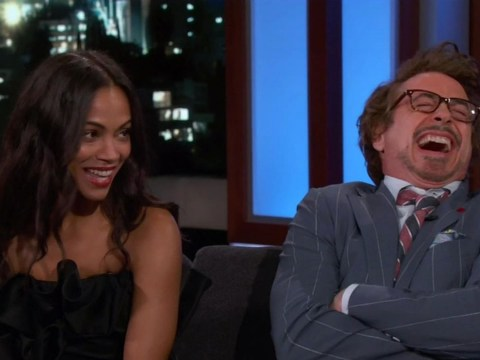 Zoe Saldana gets asked about the long-awaited Avatar sequel, talks about food instead