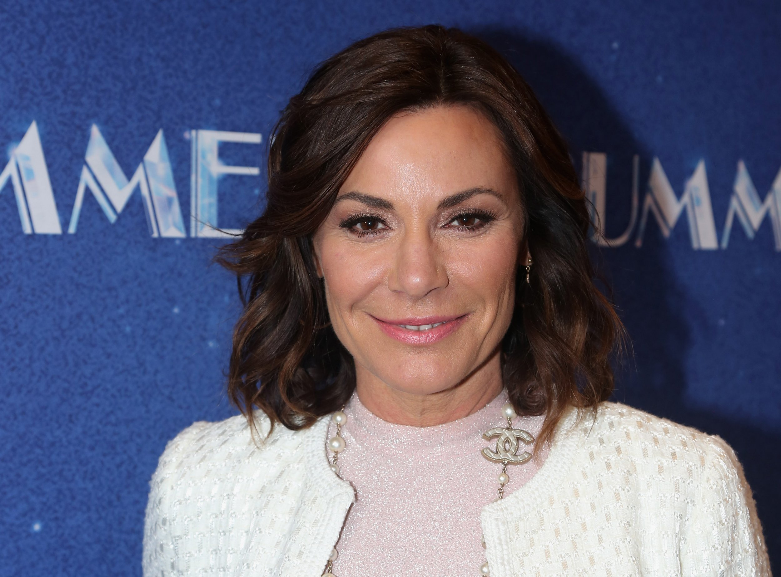 """NEW YORK, NY - APRIL 23: LuAnn de Lesseps poses at the opening night of """"Summer: The Donna Summer Musical"""" on Broadway at The Lunt-Fontanne Theatre on April 23, 2018 in New York City. (Photo by Bruce Glikas/Bruce Glikas/FilmMagic)"""