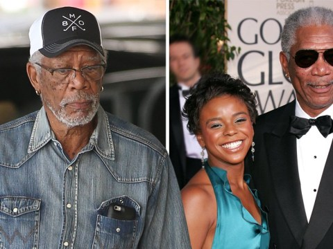 Morgan Freeman looks glum as he denies texts allegedly 'proving sexual relationship' with step-granddaughter