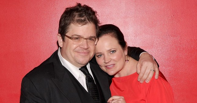 """NEW YORK, NY - DECEMBER 08: Patton Oswalt and Michelle McNamara attend the """"Young Adult"""" world premiere after party at the Hudson Terrace on December 8, 2011 in New York City. (Photo by Jamie McCarthy/Getty Images)"""