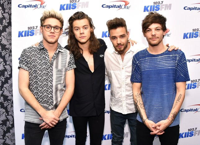 LOS ANGELES, CA - DECEMBER 04: (L-R) Recording artists Niall Horan, Harry Styles, Liam Payne and Louis Tomlinson of music group One Direction attend 102.7 KIIS FM?s Jingle Ball 2015 Presented by Capital One at STAPLES CENTER on December 4, 2015 in Los Angeles, California. (Photo by Mike Windle/Getty Images for iHeartMedia)
