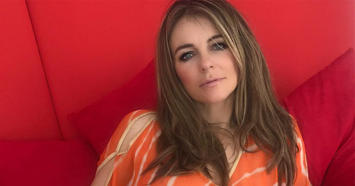 Liz Hurley frees the nipple while showing off her Fifty Shades inspired 'red room'