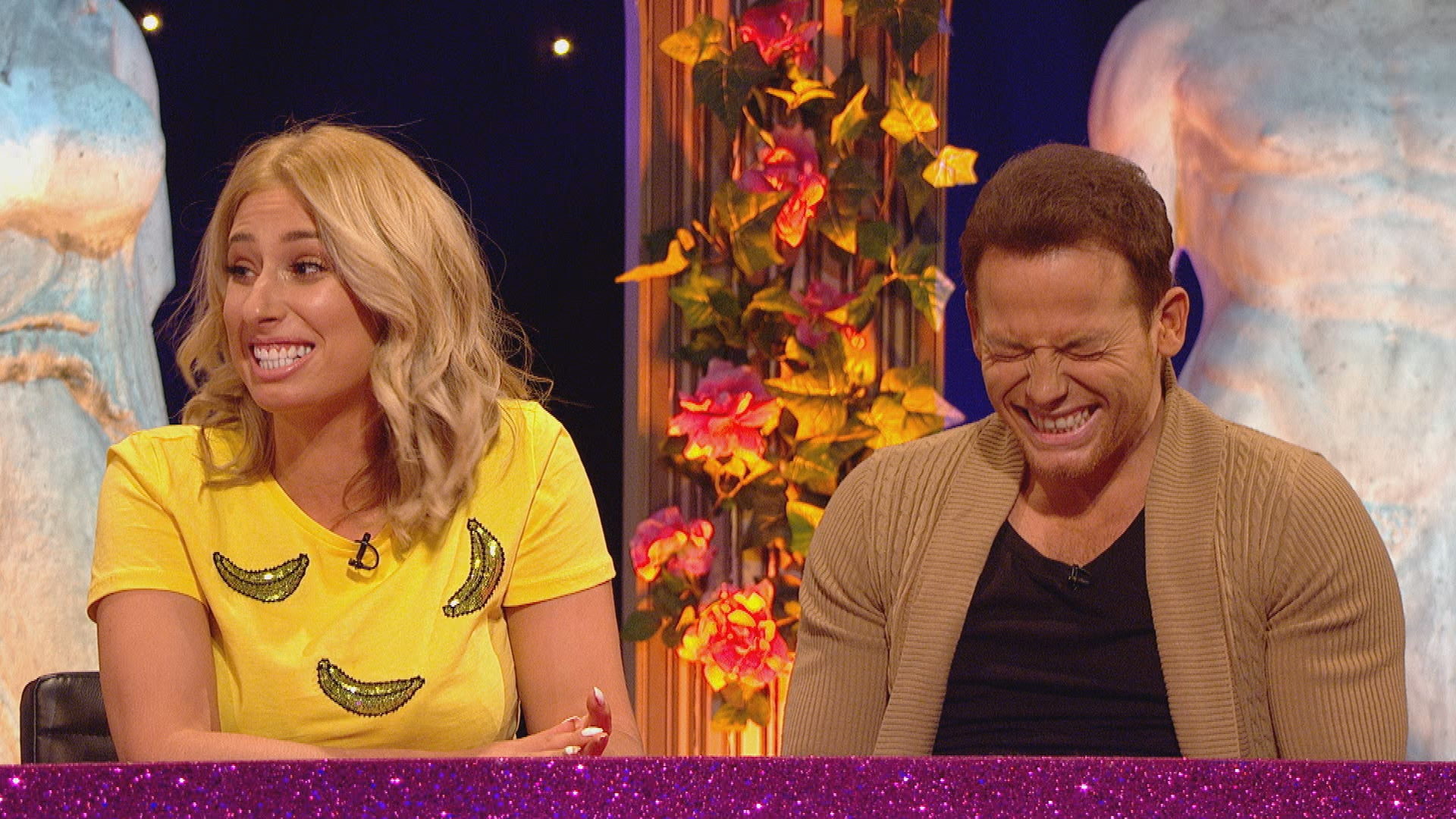 Joe Swash confesses he wees in the bath during romantic nights in with Stacey Solomon on Celebrity Juice