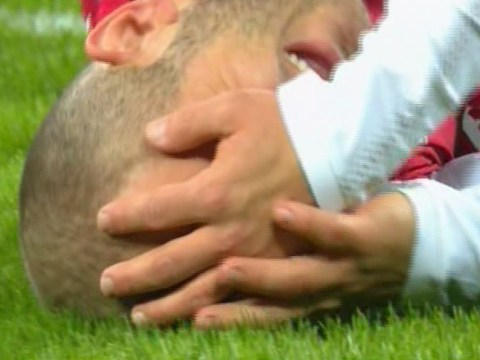 Shkodran Mustafi hurts Jack Wilshere in freak incident during CSKA Moscow v Arsenal tie