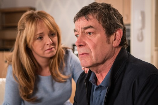 Johnny is devastated by Aidan's death in Coronation Street