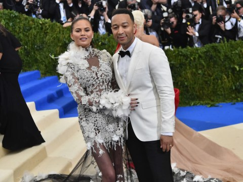Chrissy Teigen trolls John Legend over skipping out on taking care of newborn son Miles to attend BBMAs