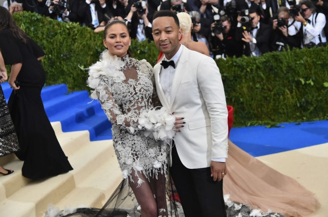 Chrissy Teigen and John Legend at Met Gala