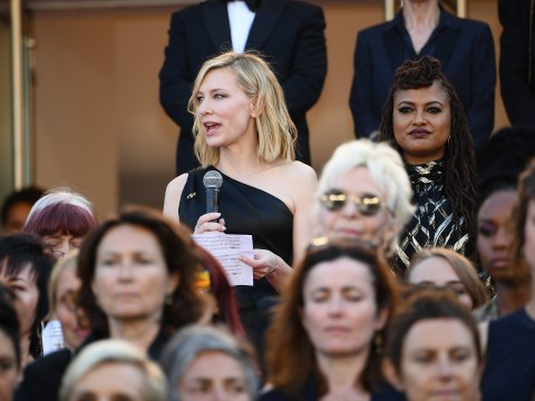 Tears and cheers as Cate Blanchett and Kristen Stewart lead protest at Cannes Film Festival