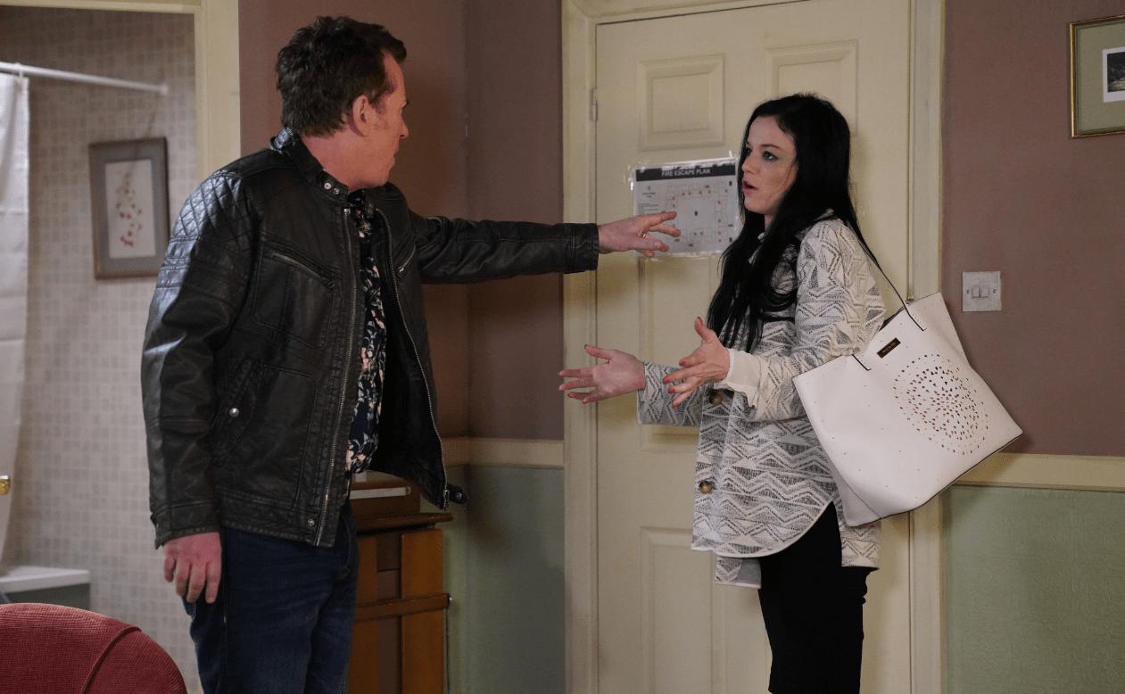 Hayley and Alfie argue in EastEnders