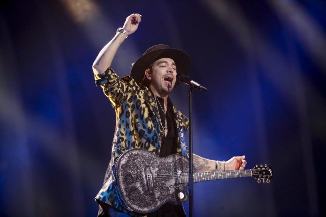 Waylon sings Outlaw In Em for The Netherlands at the 2018 Eurovision Song Contest 2018