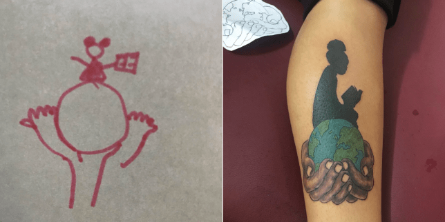 Tattoo Artist Interprets His Client S Bad Sketch Into An Amazing