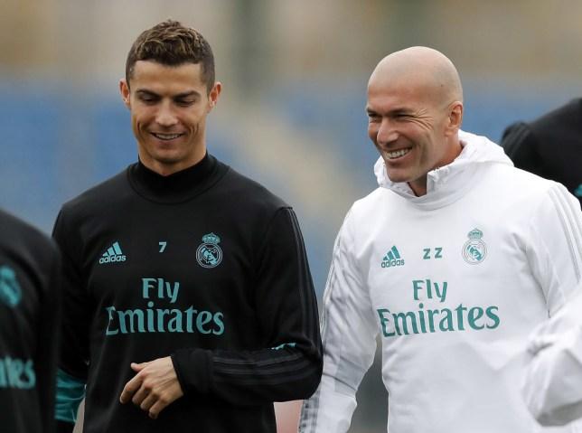 1cbb90ed2 Cristiano Ronaldo sends message to Zinedine Zidane after quitting Real  Madrid