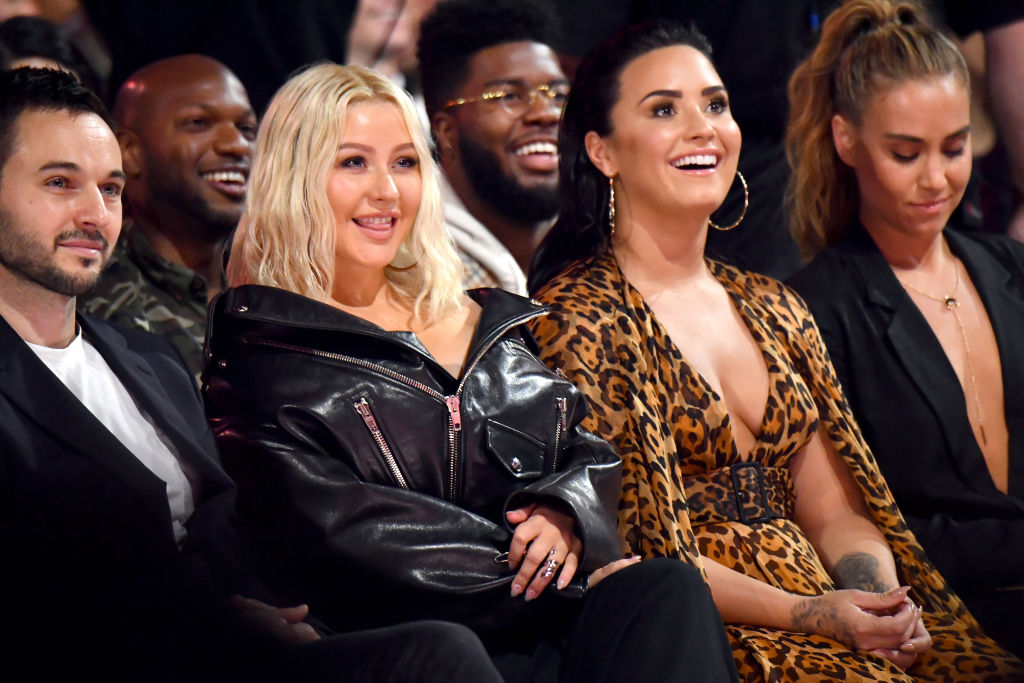 Demi Lovato reveals she 'nearly peed herself' upon meeting Christina Aguilera