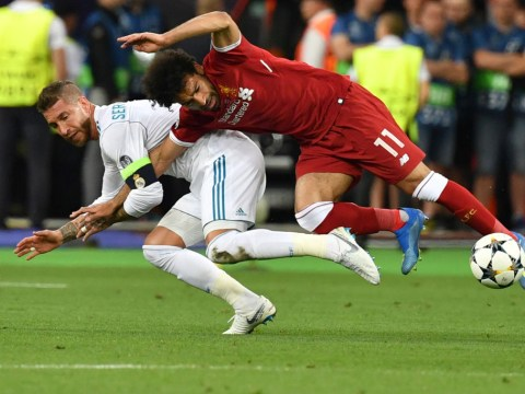 Liverpool fans claim Sergio Ramos 'practiced' arm grapple on Mohamed Salah a year ago