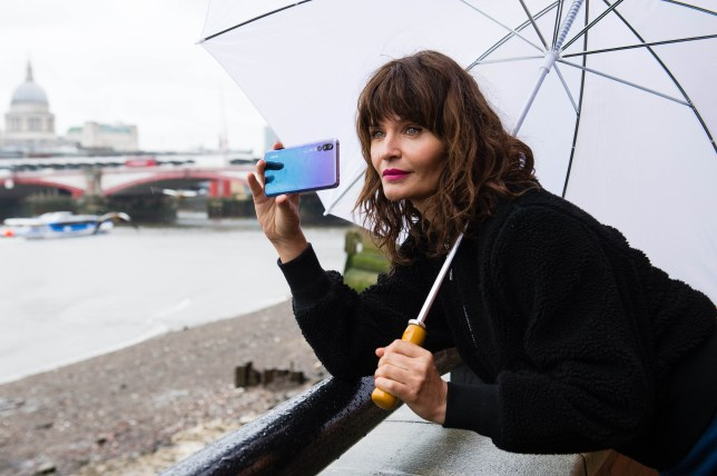 Helena Christensen looked incredible as she led a photography masterclass (Picture: PA)