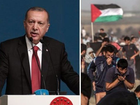 Turkey's president compares Israel's actions against Palestinians to Holocaust
