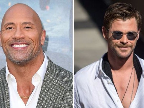 Chris Hemsworth and Dwayne Johnson turn up the heat with flirty messages: 'You should be naked from the waist down'
