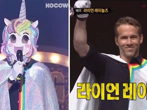 Ryan Reynolds makes surprise appearance on Korean TV singing Annie and dressed as unicorn