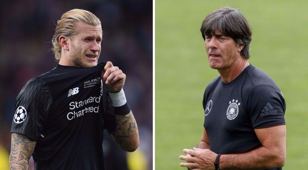 Germany boss Joachim Low texted Loris Karius after Champions League final