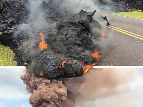 Residents watch as Hawaii volcano destroys homes and spews toxic gas
