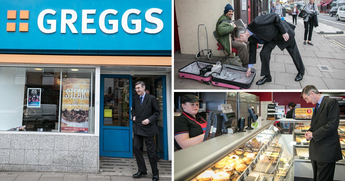 'Man of the people' Jacob Rees-Mogg MP went to Greggs for lunch