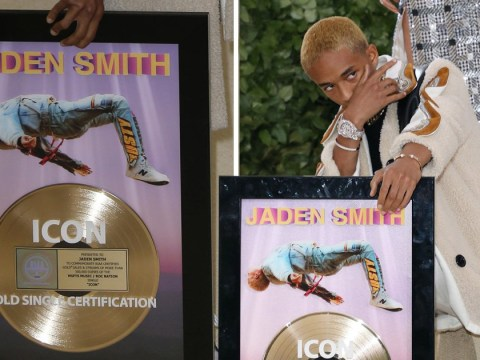 Jaden Smith brings own framed album to Met Gala but still can't crack a smile