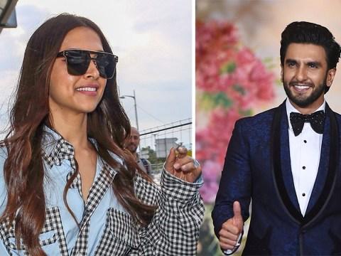 Bollywood stars Deepika Padukone and Ranveer Singh fuel wedding speculation as he's spotted calling 'bae'