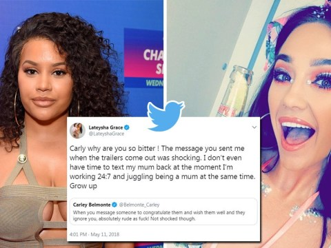 The Valleys' Carley Belmonte and Lateysha Grace are throwing serious shade at each other