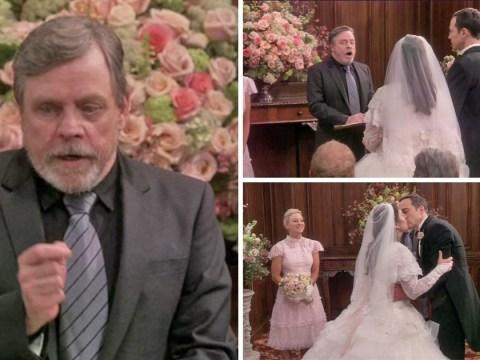 Mark Hamill officiates Sheldon and Amy's wedding in Big Bang Theory season finale