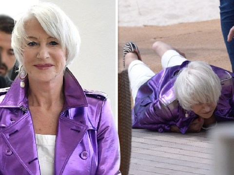 Helen Mirren hits the deck as she takes epic tumble in Cannes