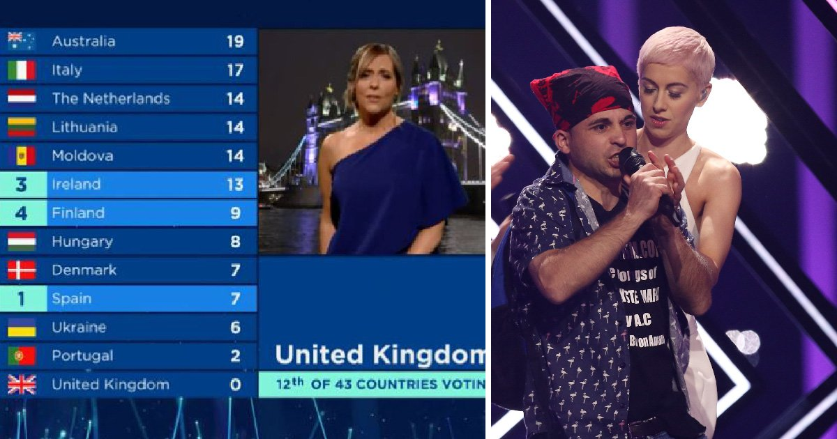 Eurovision UK result host Mel Giedroyc tells SuRie she's proud of her after stage invasion